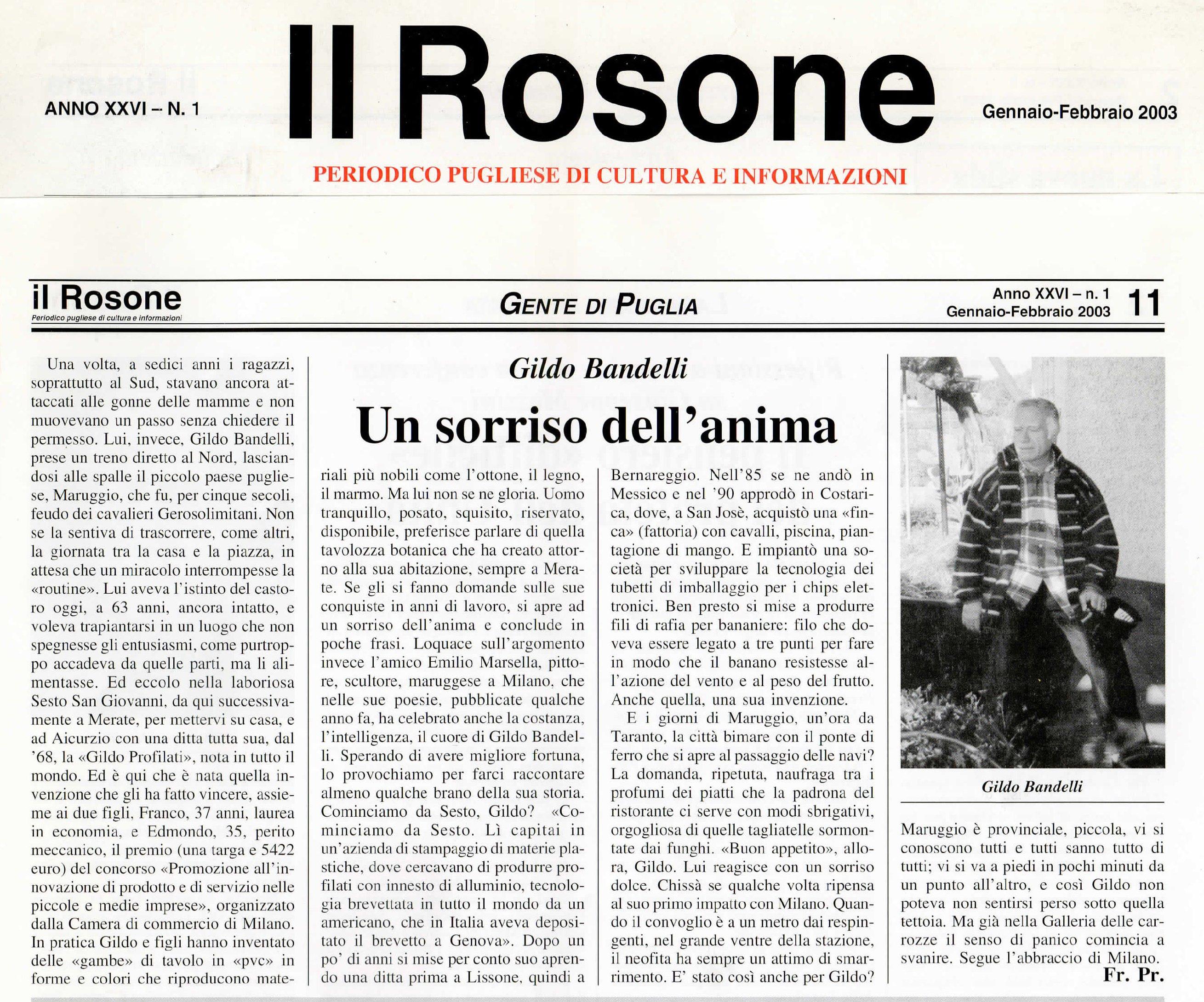 Il Rosone, Gennaio-Febbraio 2003