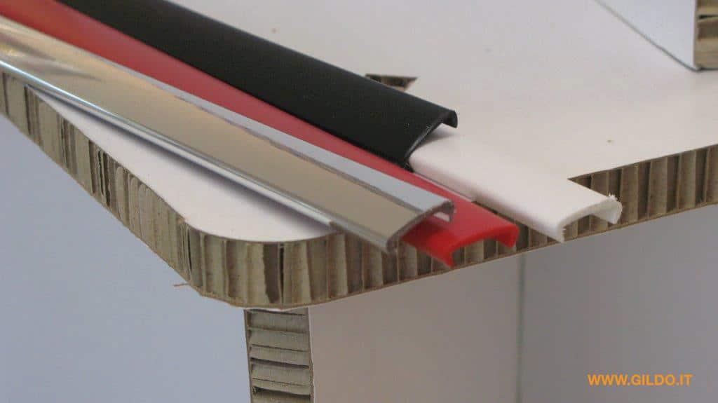 Profili e bordi per cartone alveolare a nido d 39 ape gildo profilati - Bordi per mobili ...