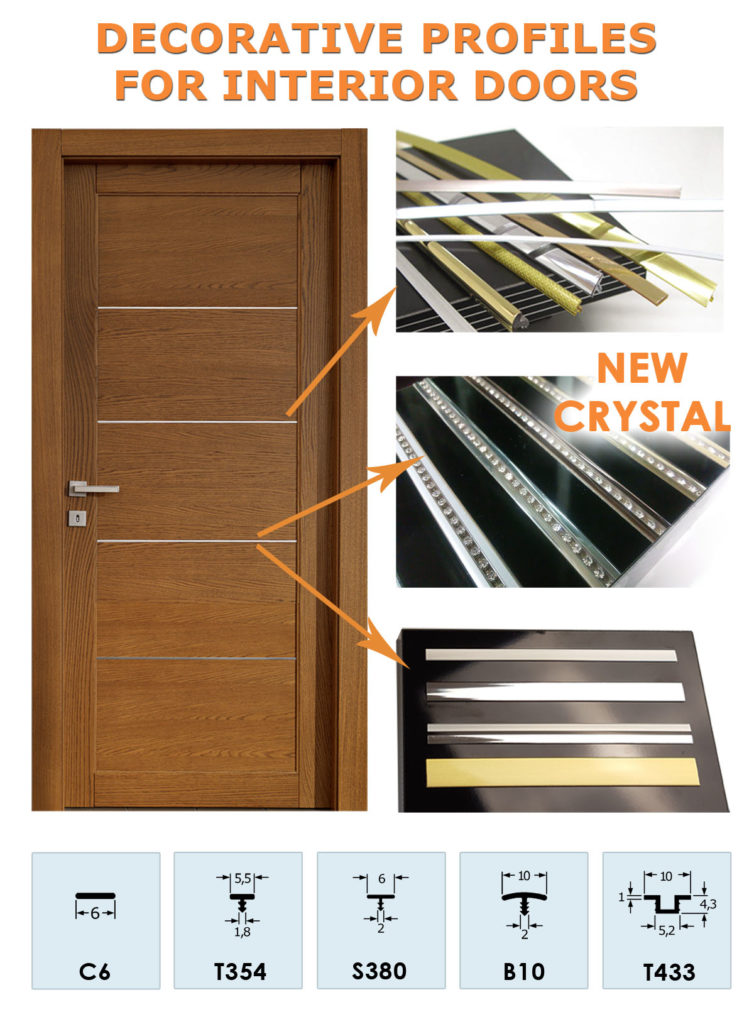 Profili per Porte da interni e antine - Profiles for Interior and Cabinet Doors