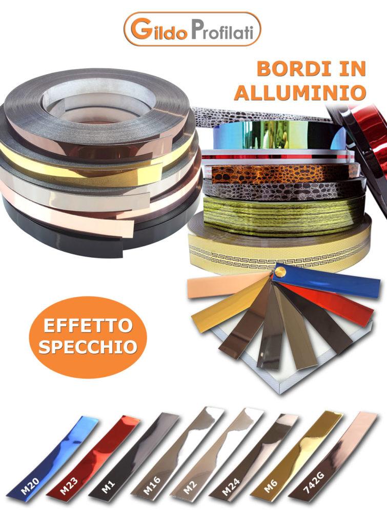 Bordi in Alluminio ad effetto specchio e cromo