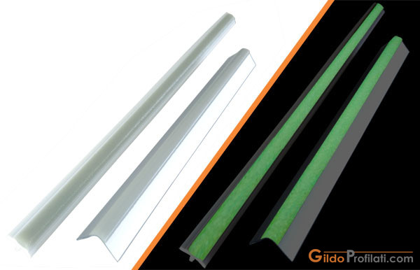 Photoluminescent aluminum profiles and frames