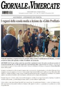 Articolo sul Giornale di Vimercate relativo alla Scuola media in Visita presso la Gildo Profilati