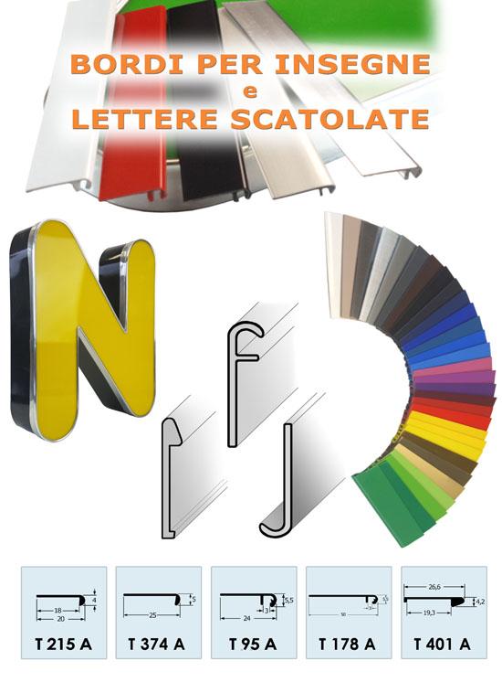 Profili per Insegne Pubblicitarie e Lettere Scatolate